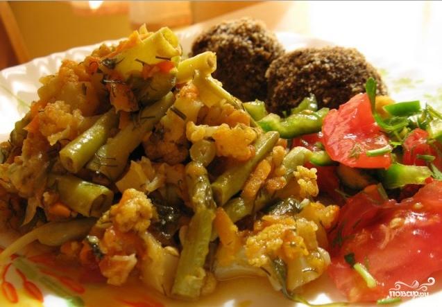 блюда из цветной капусты и стручковой фасоли