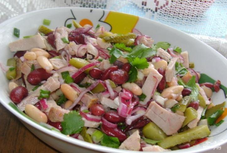 Салат из фасоли с ветчиной рецепты с