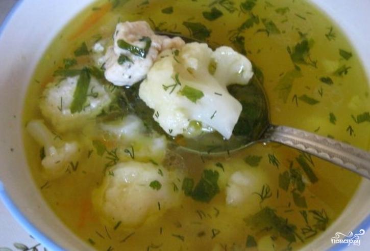 Супы с фрикадельками и капустой с фото